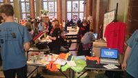 Unser Stand im Wappensaal des Roten Rathauses